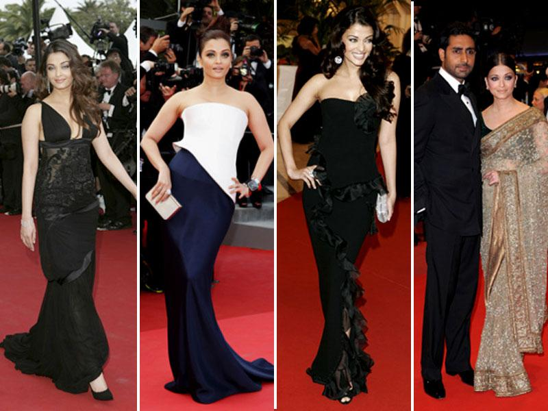 Aishwarya has been India's most oft seen face at Cannes. Here are a few looks with which the star made us proud in France.