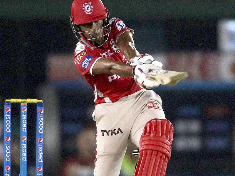 Kings XI Punjab's (KXIP's) Wriddhiman Saha smashed a 12-ball 31 against Royal Challengers Bangalore (RCB) in the IPL 2015 match between the two teams at Mohali on May 13. (PTI Photo)