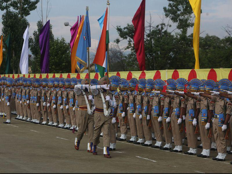 A total of 341 recruits were formally inducted into the CRPF, after completing a 44-weeks training in Humhama on the outskirts of Srinagar.Waseem Andrabi/HT