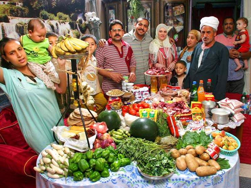 Country : Egypt | Food expenditure for one week: $68.53 (source: Peter Menzel, from the book,