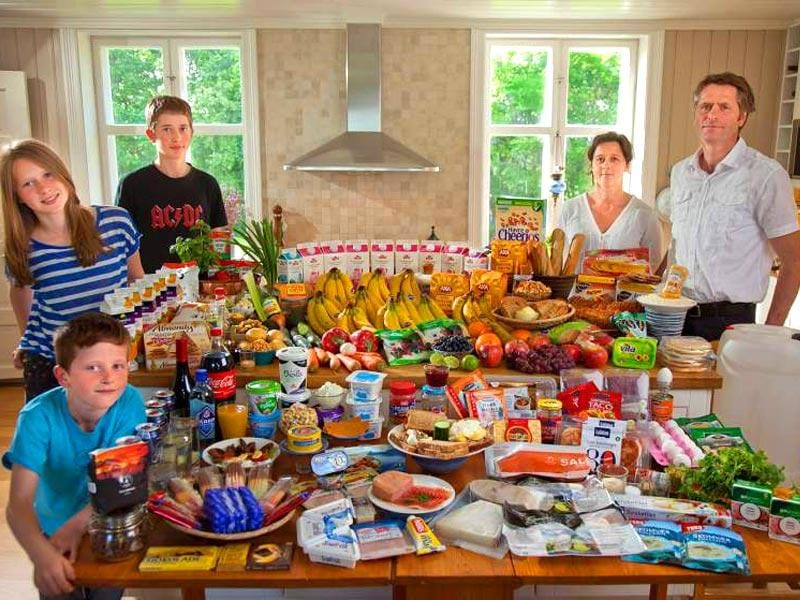 Country : Norway | Food expenditure for one week: $731.71 (source: Peter Menzel, from the book,
