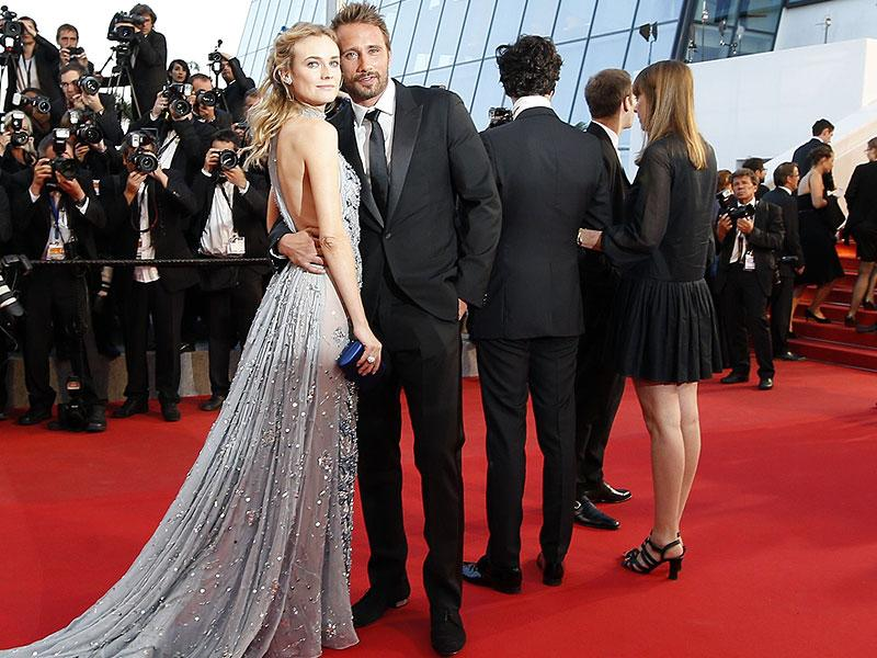 German actor Diane Kruger and Belgian actor Matthias Schoenaerts pose as they arrive for the screening of the film Maryland - Disorder at the 68th Cannes Film Festival in Cannes. (AFP photo)