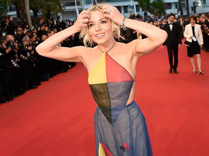 British actor and member of the feature film jury Sienna Miller arrives for the screening of the film The Sea of Trees at the 68th Cannes Film Festival in Cannes. (AFP)