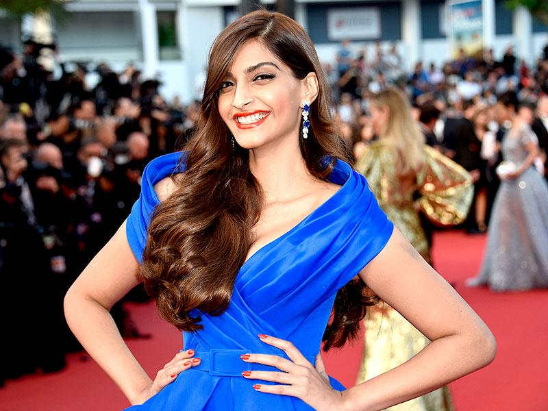 Sonam Kapoor wowed in a Ralph and Russo gown. It is her fifth year at Cannes. (AP photo)