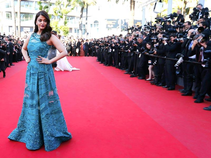 Aishwarya Rai Bachchan poses on the red carpet as she arrives for the screening of the film Carol in competition at the 68th Cannes Film Festival in Cannes. The actor is seen in an Elie Saab gown and DeGrisgono jewellery. (Reuters)