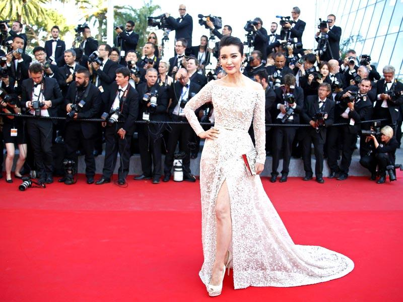 Li Bingbing poses as she arrives for the screening of the film