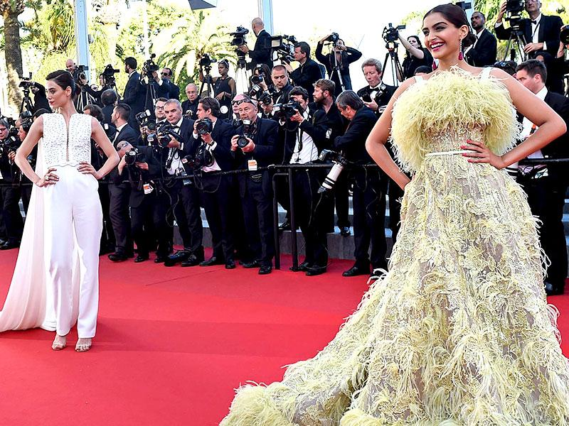 This gown of Sonam Kapoor led to many memes on the internet. While some played on her 'chic-k' look, others compared the dress to a stack of hay. Before her appearance, the actor had said her look would be quirky. (AFP)