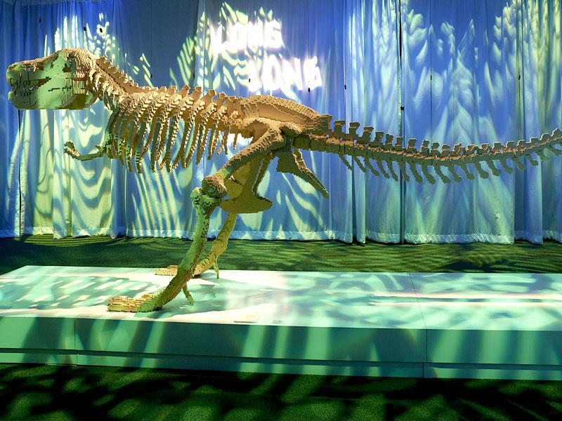 This dinosaur required 80,020 bricks to come to life. (AFP)