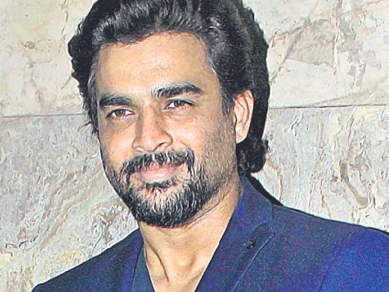 R Madhavan spotted at a film screening in Mumbai.