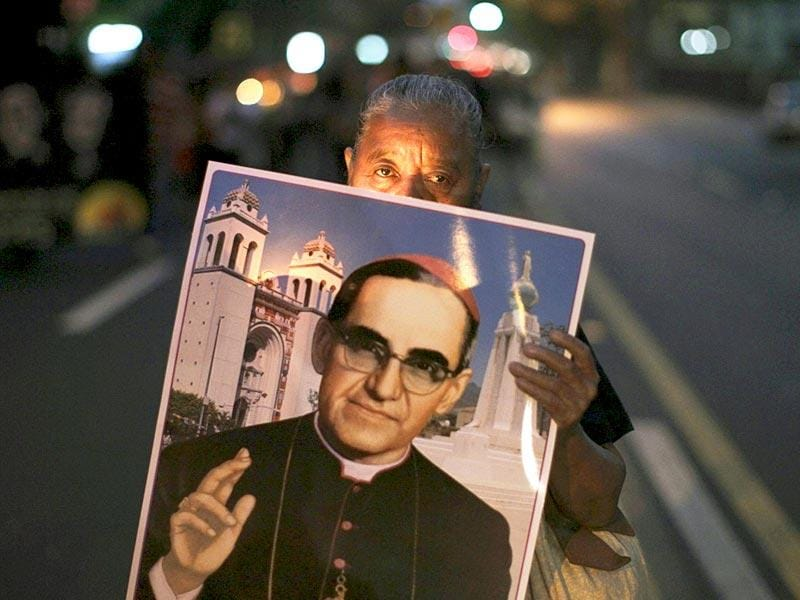 Salvadorans are preparing for the beatification of Archbishop Oscar Arnulfo Romero on May 23, who was murdered by a right-wing death squad in 1980. (Reuters)