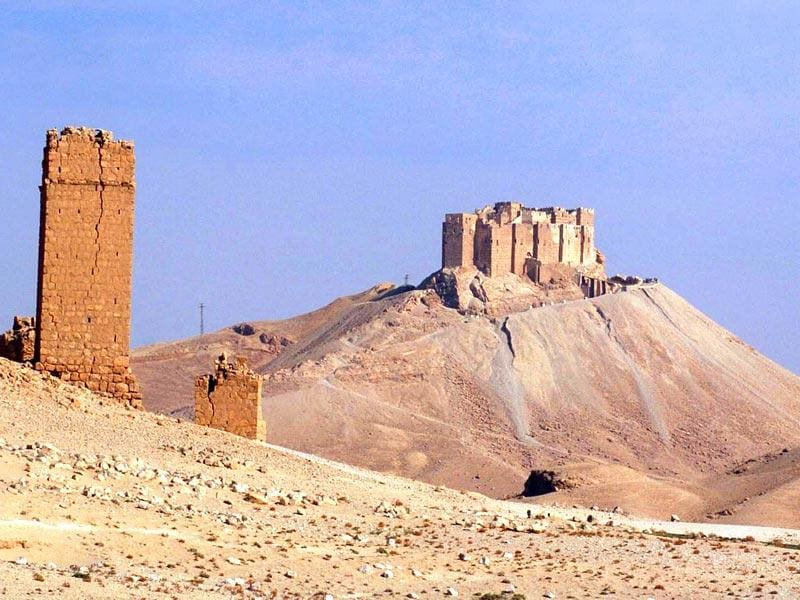Fakhreddin's Castle (top), is pictured in the historical city of Palmyra. (Reuters Photo)
