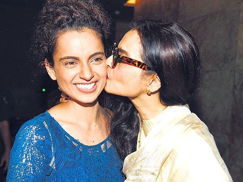 Rekha was pleased with Kangana's performance in Tanu Weds Manu Returns. (Photo: Manav Manglam)