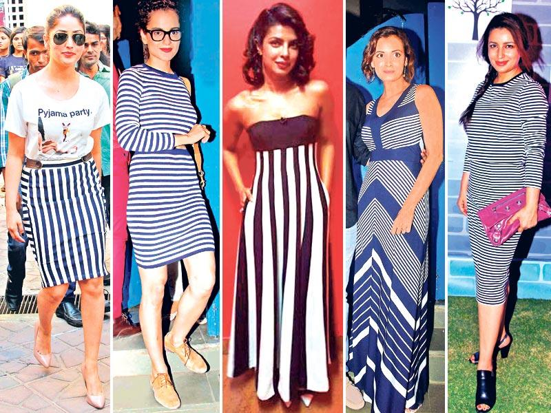 From modern zigzag lines to bold sailor-like motifs, stripes are dominating the runways as well as these actors' wardrobe. Take a cue.
