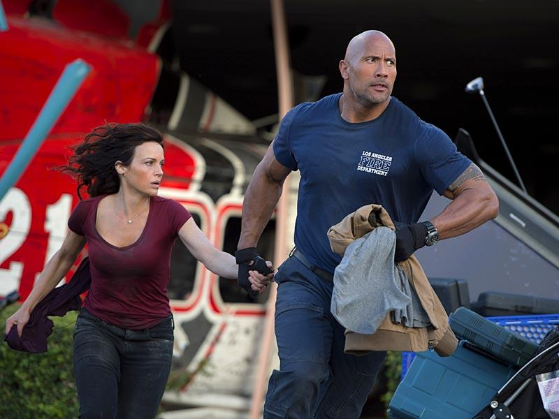 Dwayne Johnson is out to save his estranged daughter played by Alexandra Daddario as a series of massive earthquakes strike California.