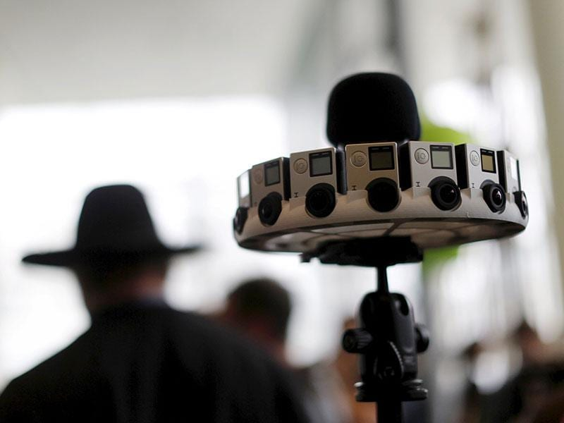A GoPro device featuring 16 cameras, to be used with Google's