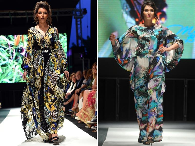 The collection by Mariam Hussein embraced playful designs, including embroidered palm trees.