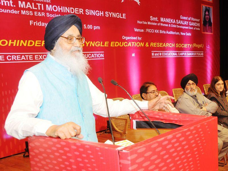Punjab CM Parkash Singh Badal during the