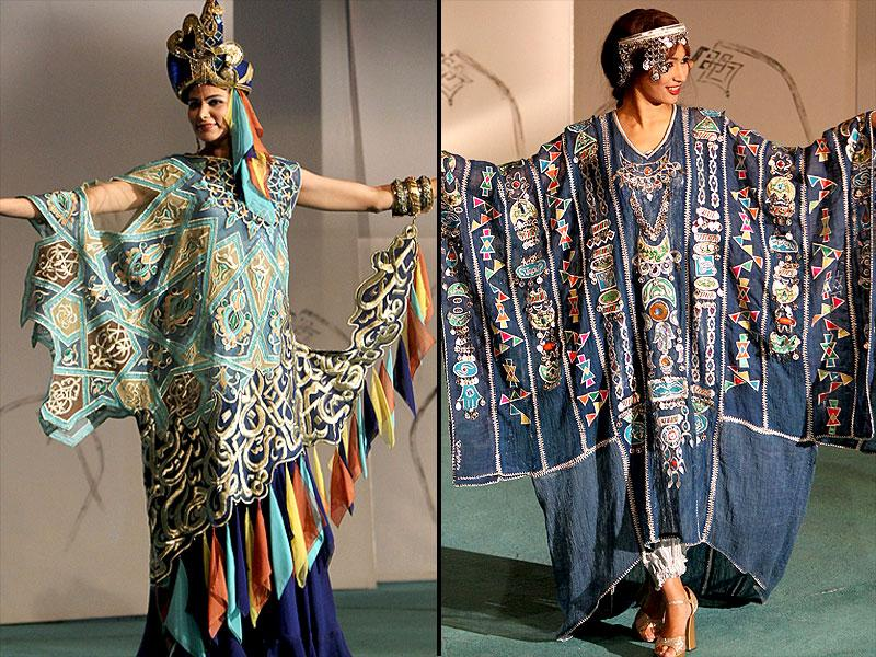 Many creations at the first fashion show at Baghdad's Fashion Institute in Iraq were in asymmetrical designs. (AFP)