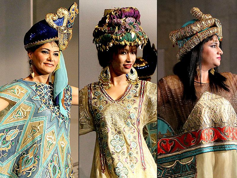 Check out the fancy and varied head gears created by local designers at the first fashion show at Baghdad's Fashion Institute in Iraq. (AFP)