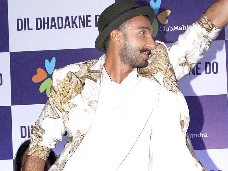 How can we forget Mithun da, our Disco dancer?Ranveer Singh promotes Dil Dhadakne Do in New Delhi. (Photo: IANS)