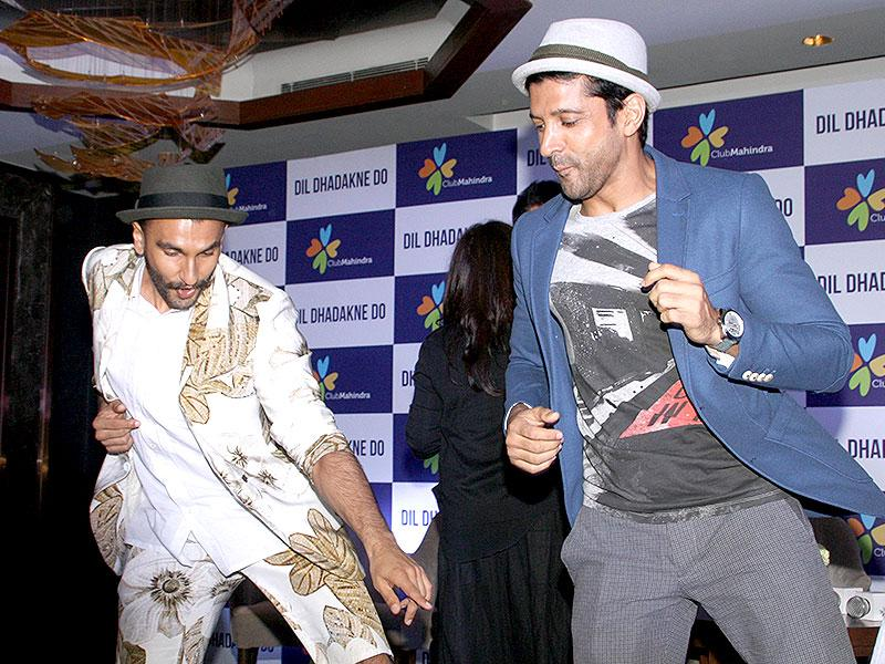 And, here's an ode to Bollywood's own dance God, Govinda.Ranveer Singh and Farhan Akhtar at promotions for Dil Dhadakne Do. (Photo: IANS)
