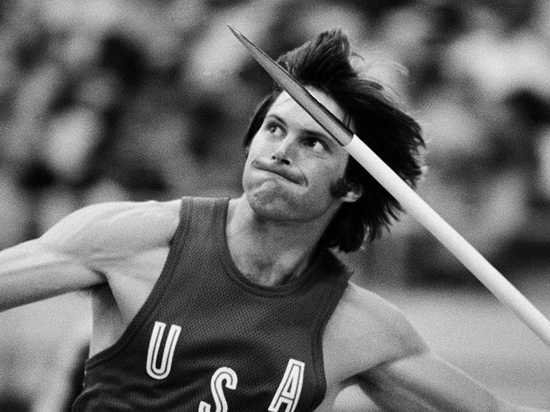 In this July 30, 1976, file photo, Bruce Jenner, of the United States, throws the the javelin during the decathlon competition at the Olympics in Montreal, Canada. (AP photo)