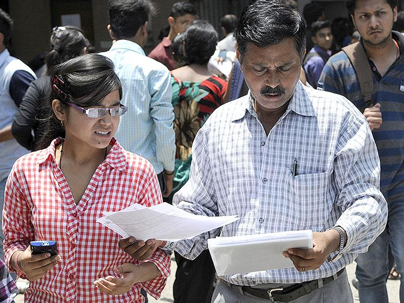 The offline admission process for the new academic session begins at the Delhi University North Campus in New Delhi on Friday. (Photo by Sushil Kumar/ Hindustan Times)