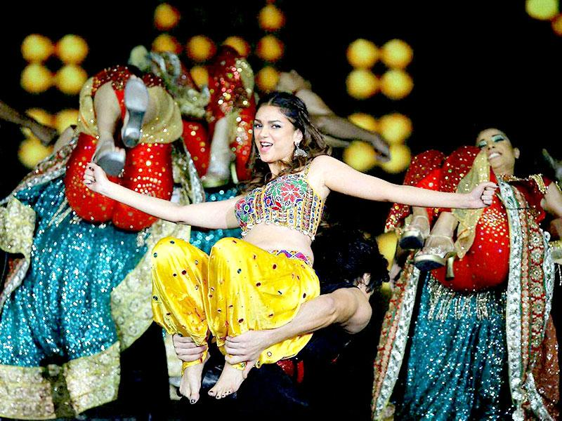 Kuala Lumpur: Bollywood actress Aditi Rao Hydari performs at the IIFA Rocks! concert as part of the three-day long International Indian Film Academy (IIFA) awards in Kuala Lumpur, Malaysia on Friday. (PTI Photo)