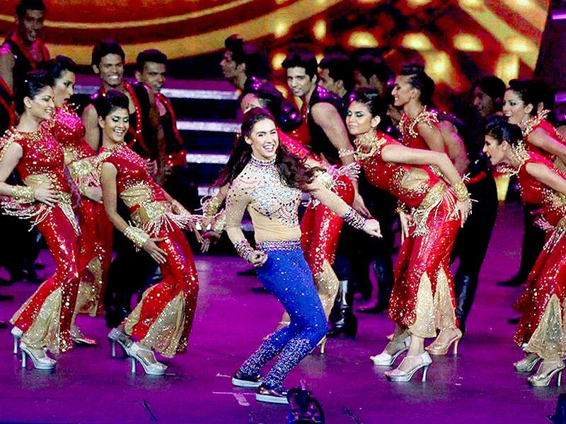 Kuala Lumpur: Bollywood actress Lauren Gottlieb performs at the IIFA Rocks! concert as part of the three-day long International Indian Film Academy (IIFA) awards in Kuala Lumpur, Malaysia on Friday. (PTI Photo)