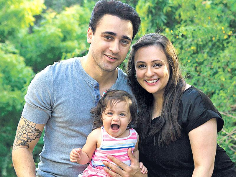 Imran Khan with wife Avantika Malik Khan and daughter Imara. (Photo: Cyrus Dalal)
