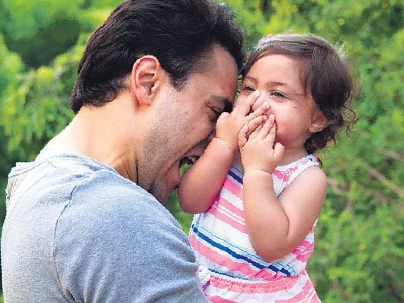 Imran Khan gets playful with daughter Imara. (Photo: Cyrus Dalal)