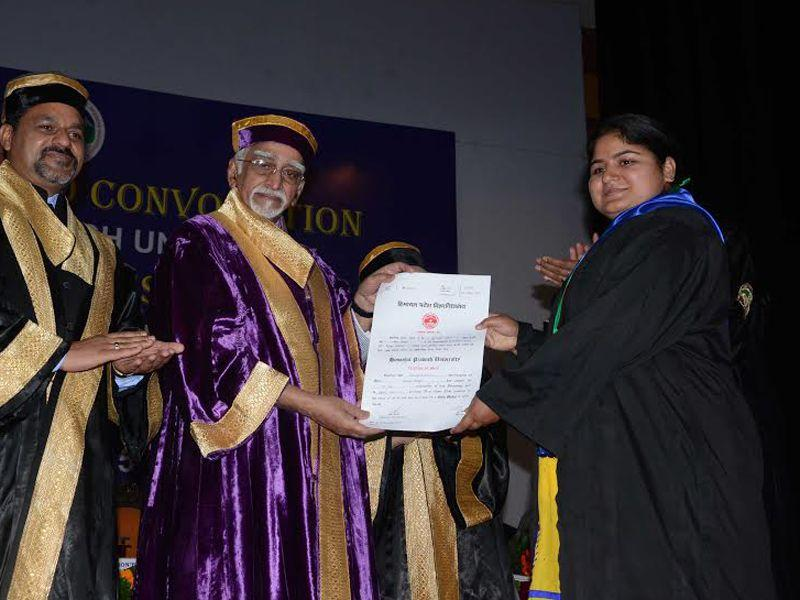 Ansari distributed 137 PhD degrees and conferred 123 gold medals to the students. HT Photo