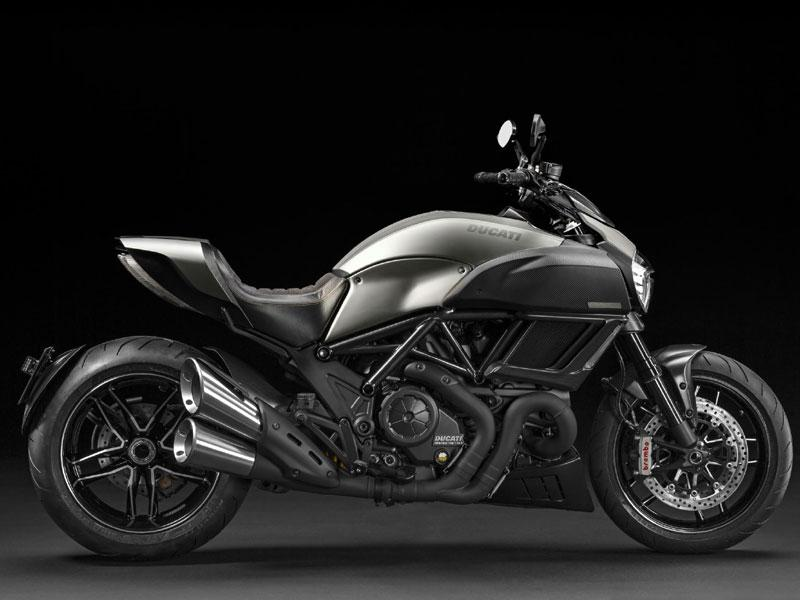 The Ducati Diavel Titanium Edition : A cruiser, but only for those whose idea of a cruise takes in a post-apocalyptic landscape, the standard Diavel, with its aggressive lines, wide stance and 160bhp V-Twin engine is already pretty special. However, the company is now selling a special Titanium edition, limited to 500 examples globally; it's lighter, stronger and more desirable still thanks to prodigious use of titanium and carbon fiber in its construction. Photo:AFP