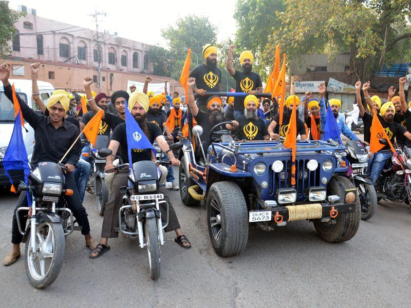 Marches were taken out to create awareness for a 'Clean Amritsar' on the occasion of the 438th foundation day. Sameer Sehgal/HT