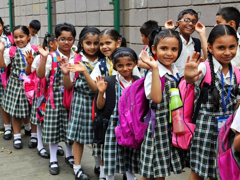 The students are all geared up for their first day of school post-summer vacations. (Photo: Praful Gangurde)