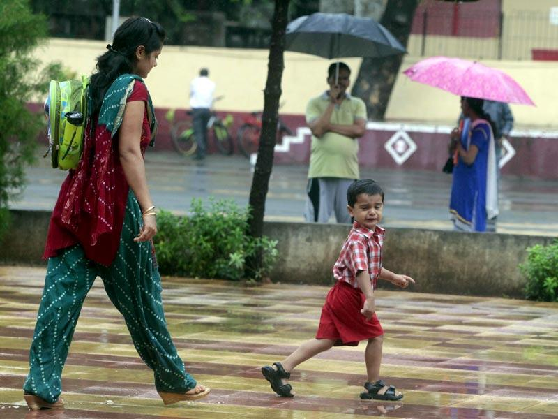 ... And, then he tried running away, as his mother finally caught up with him. Location: Bhayander's Our Lady of Nazareth School. (Pratham Gokhale/HT photo)