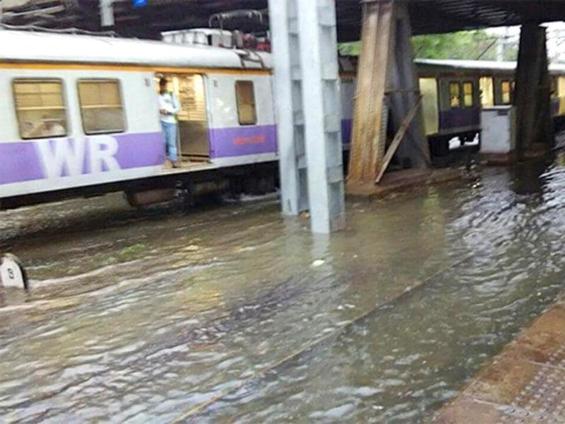 Local train services were disrupted due to waterlogged railway tracks (Photo by @smithmorga)