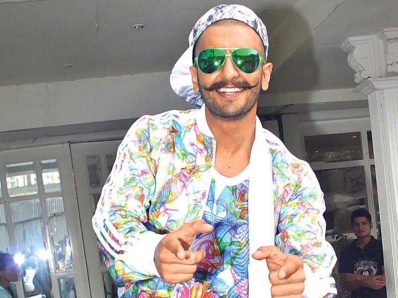 Ranveer Singh attended a birthday party in Mumbai. (Photo: Yogen Shah)