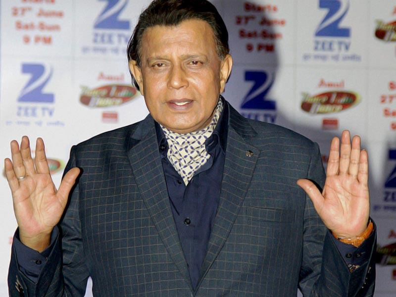 Mithun Chakraborty at a press conference for reality show Dance India Dance in Mumbai on Tuesday night. (PTI Photo)