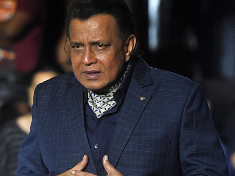 Had a little too much for lunch? Mithun Chakraborty at a promotional event for Dance India Dance 5 in Mumbai on June 23, 2015. (AFP Photo)