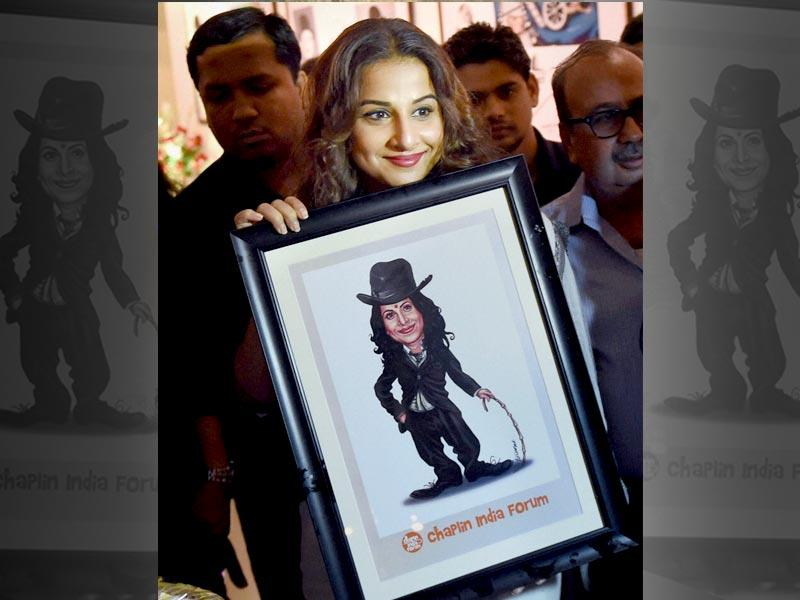 Vidya Balan seems to be too happy as she inaugurates the exhibition