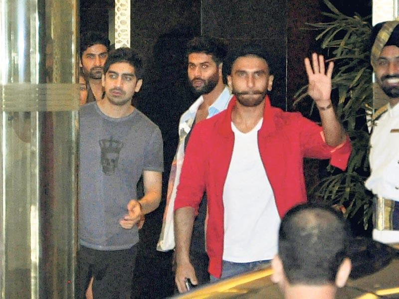 Ayan Mukerji and Ranveer Singh at the birthday party of Arjun Kapoor. (Photo: Yogen Shah/HT)