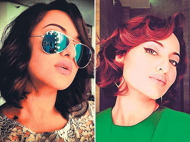 Sonakshi Sinha: Swag saada desiAnd you thought she was only the queen of Dubsmash! Sona loves selfies, but you've got to have a certain sense of chutzpah to look as cool as she does in her clicks. Chin up, a little flip of that short hairdo, mirrored shades on and flawless makeup – if you think your selfies are dipped in swagger, you've got the Sona selfie fever.