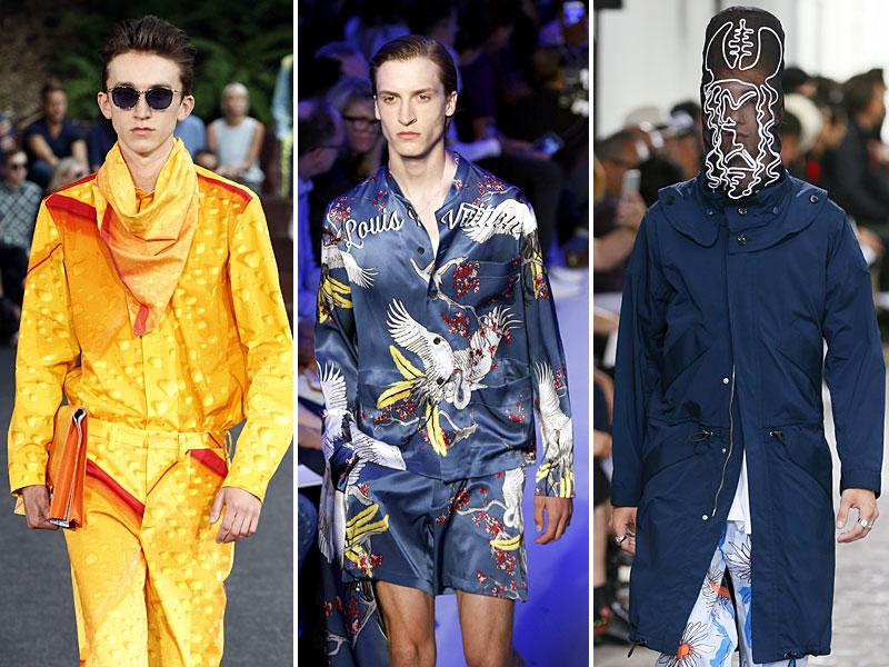 The men's wardrobe is experiencing a rebirth, becoming longer and looser, as well as appropriating bolder colours. Here is a look at some of the designs ruling the international runways. (Photos: AFP)