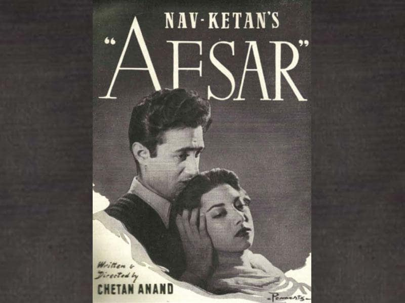 Afsar (1950) starred Dev Anand and Suraiya - and was the first film produced under the Navketan Films banner.