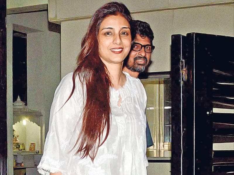 Tabu arrives for Huma Qureshi's Iftar party. (Photo: Yogen Shah)