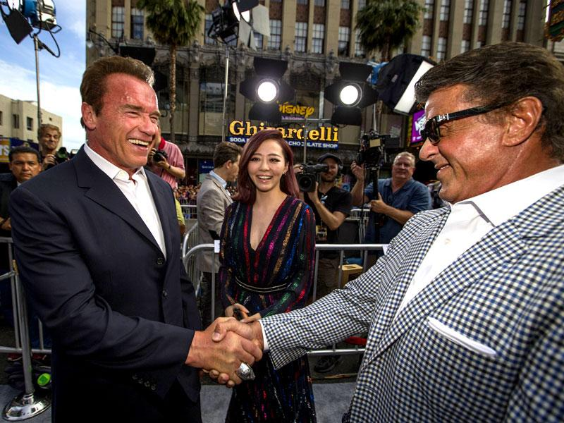 Sylvester Stallone and Arnold Schwarzenegger, as the biggest action stars of their time, owned the eighties. (Reuters)