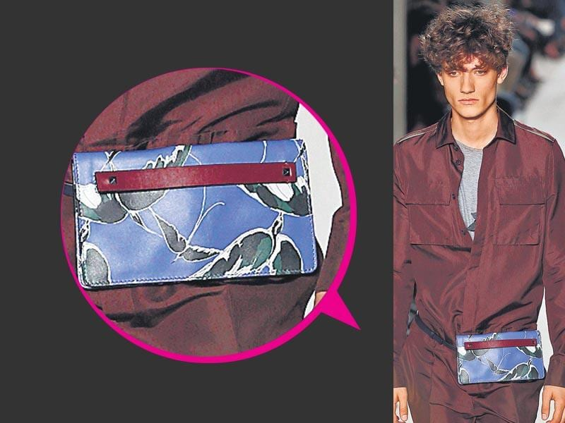 The 90s' favourite fanny pack is back in a glam avatar. Guys, if you must, get inspired to rock a chic printed one as seen at the Valentino show.