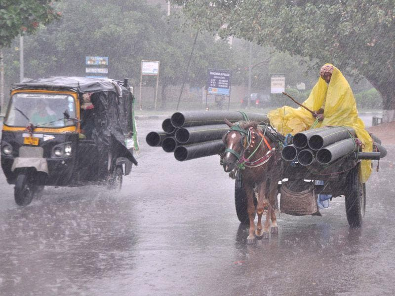 The Met department has predicted rain from July 5. Sant Arora/HT