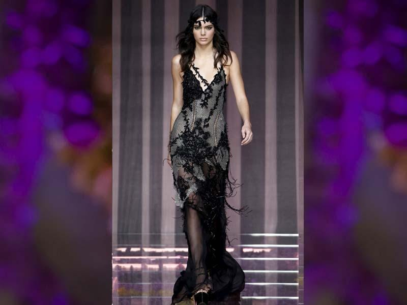 Jewel-encrusted long dresses made of exquisite fabric was the theme when Donatella Versace launched her Haute Couture Fall Winter 2015-16 at Paris. (Reuters Photo/Charles Platiau)